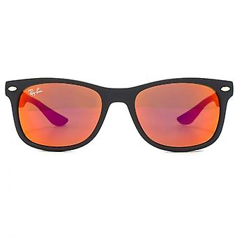 Ray-Ban Junior Wayfarer Sunglasses In Matte Black Red Multilayer