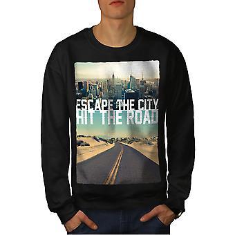 Fuggire la città degli uomini BlackSweatshirt | Wellcoda