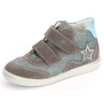 Zapatos de niños universal Ricosta Cleo Graphit Himmel terciopelo maravilloso 2524200452