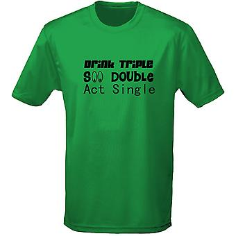 Drink Triple See Double Act Single Mens T-Shirt 10 Colours (S-3XL) by swagwear