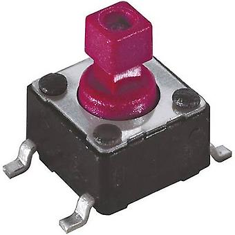 Pushbutton, Printed switches 12 Vdc 0.05 A 1 x Off/(On) Diptroni