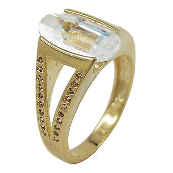 18ct gold plating 14mm Zirkonia ring