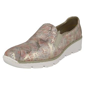 Ladies Rieker Casual Flat Slip On Shoes 58766