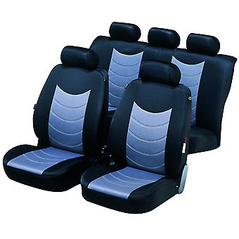 Felicia Car Seat Cover Black & Silver For Peugeot 207 CC 2007-2012