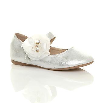 Ajvani ragazze piatto mary jane matrimonio vestire Ballerine scarpe di costume principessa damigella d'onore