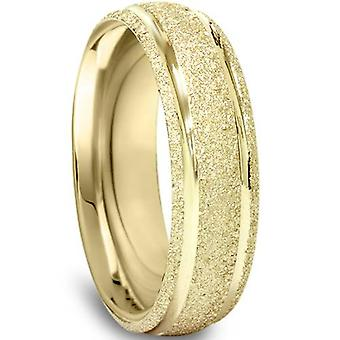 5mm Brushed Wedding Band 10K Yellow Gold