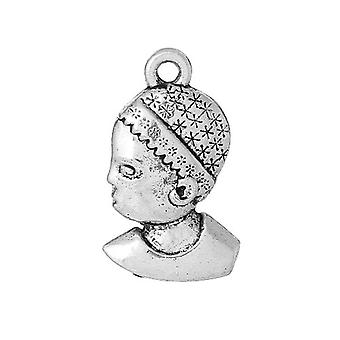 Packet 8 x Antique Silver Tibetan 22mm Child Charm/Pendant ZX12750