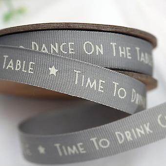 East of India 'Time To Drink Champagne And Dance On The Table' Ribbon 3m Craft / Gift Wrap