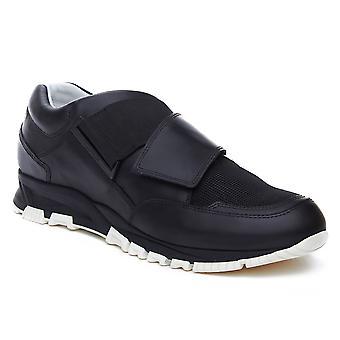 Lanvin mäns läder Crossover rem Sneaker skor svart