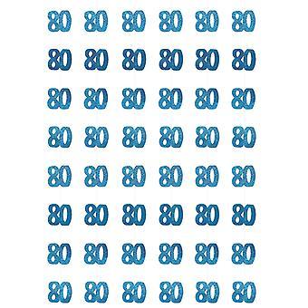 Anniversaire Glitz bleu - 80e anniversaire prisme suspendus décoration