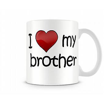 I Love My Brother Printed Mug