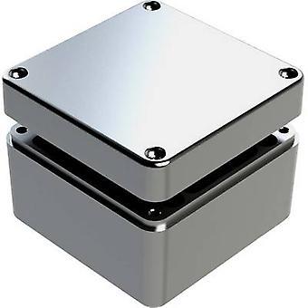 Deltron Gehäuse 487-121209A-66 Universal Gehäuse 125 x 125 x 90 Aluminium grau 1 PC