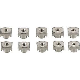 Modelcraft Aluminium Square weld nut M2 10-piece set Silver