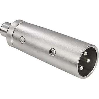 Paccs Audio/phono Adapter [1x XLR plug - 1x RCA socket (phono)] Silver