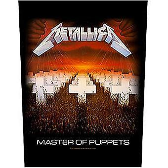 Metallica Master Of Puppets Jumbo Sized Sew-On Cloth Backpatch