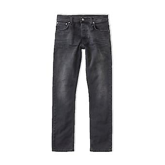 Nudie Jeans Co Dude Dan Regular Fit Jeans (Dusty Black)
