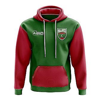 Мальдивы концепция стране футбол Толстовка (зеленый)