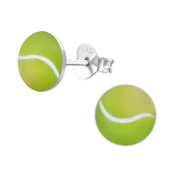 Tennis Ball - 925 Sterling Zilver kleurige Ear Studs - W19696x