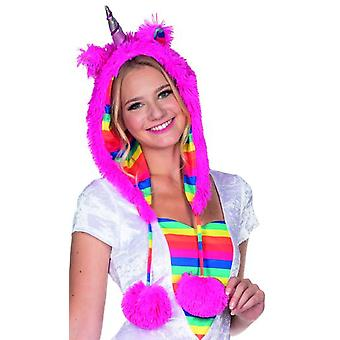 Unicorn plush Hat pink accessory Carnival fairy tale Festival