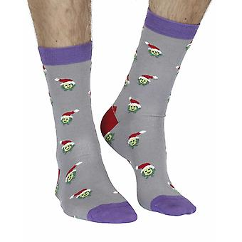 Brussel Sprout men's soft bamboo crew socks in grey | By Doris & Dude