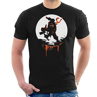 Teenage Mutant Ninja Turtles Michaelangelo Silhouette Men's T-Shirt