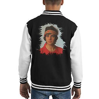 TV Times David Essex Bandana Portrait Kid's Varsity Jacket