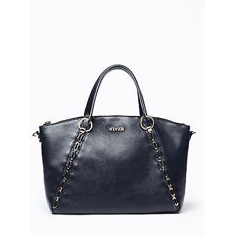 Viver エチュード黒革製のハンドバッグ