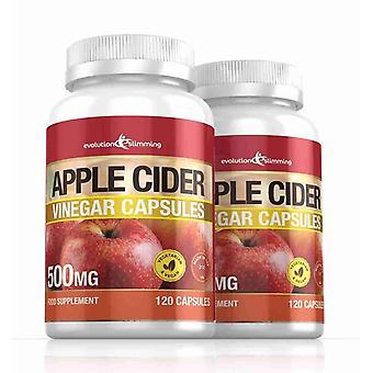 Vinagre de manzana 500mg cápsulas - 240 cápsulas - quemador de grasa - adelgazar de evolución
