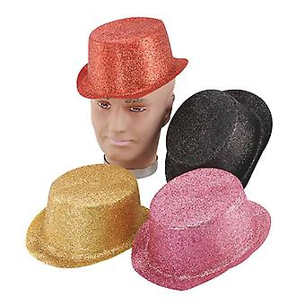 Glitter Red Toppers, Plastic.