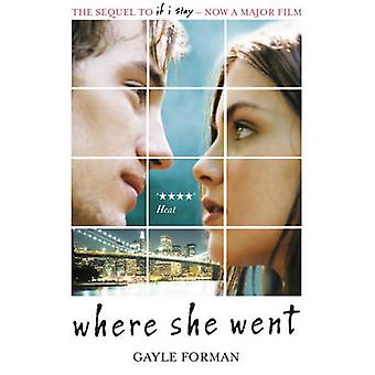 Where She Went by Gayle Forman - 9781849414289 Book