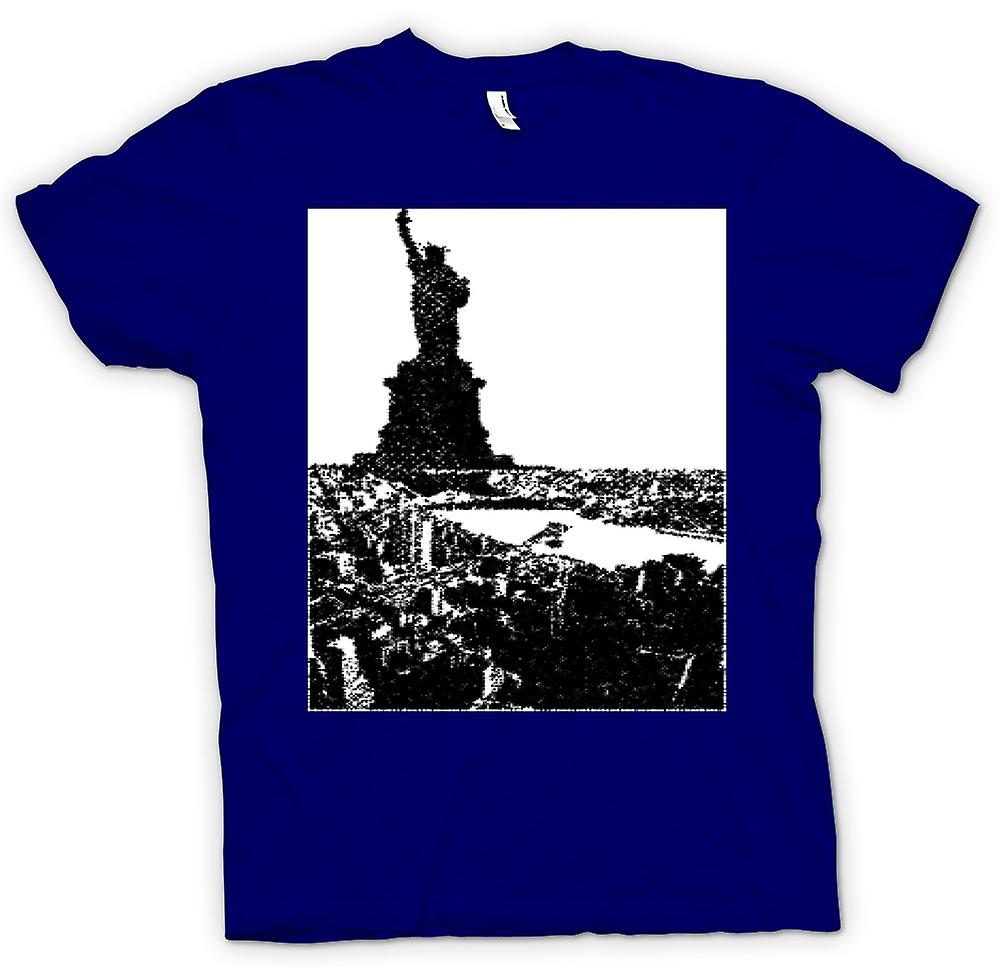 Mens T-shirt-USA Statue of Liberty Art