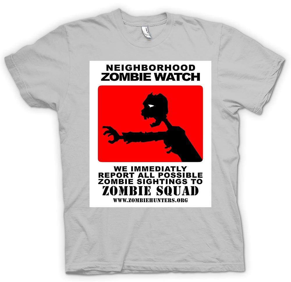 Mens T-shirt - Zombie Neighborhood Watch - Funny