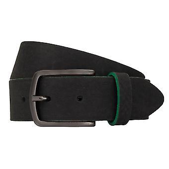TOM TAILOR belt leather belts men's belts jeans belt black 7752