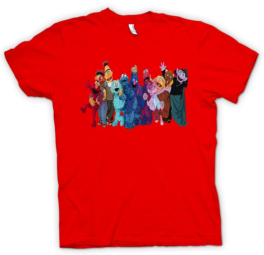 Mens T-shirt - Sesame Street Gang - Tv Show Inspired