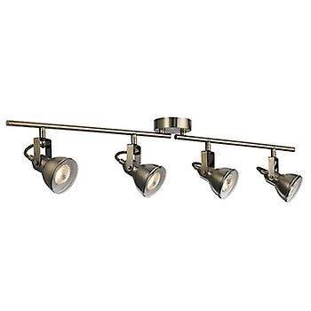 Searchlight 1544AB Focus Antique Brass 4 Light Spotlight