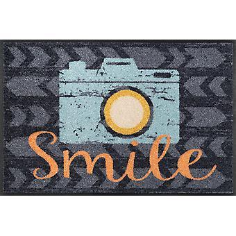 tvätt + torr matta 50 x 75 cm smile tvättbara smuts matta