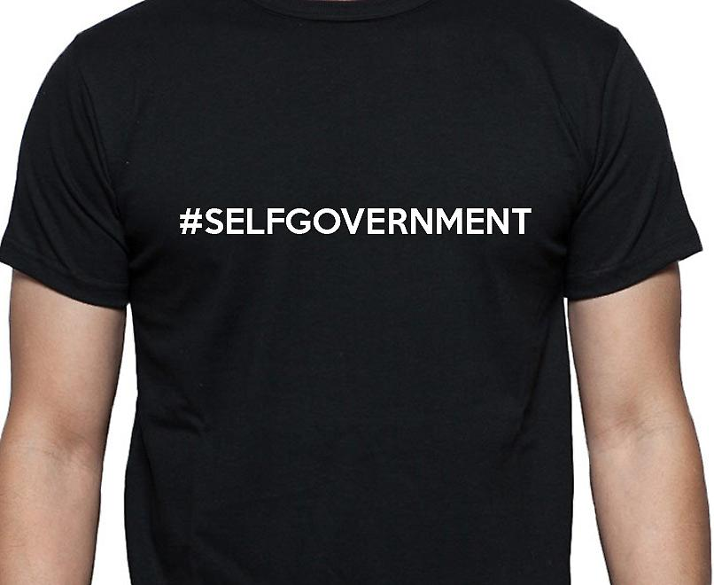 #Selfgovernment Hashag Selfgovernment Black Hand Printed T shirt