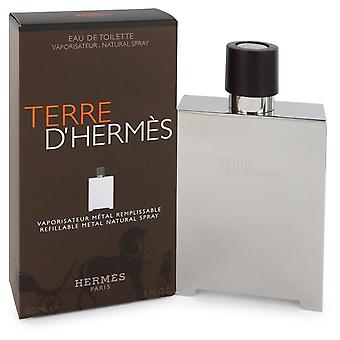 Terre D'hermes By Hermes EDT Spray Refillable (Metal) 150ml