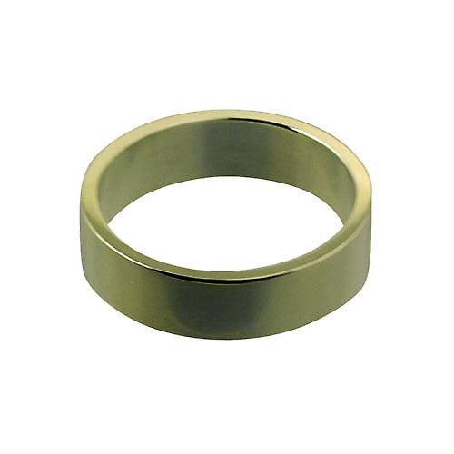 Palladium 6mm plain Flat Wedding Ring