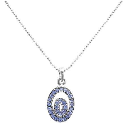 Holiday Gifts For Employees Sparkle Sapphire Shine Pendant Necklace