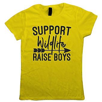 Suporte vida selvagem cria rapazes, Womens engraçado T camisa | Engraçado novidade perfeito presente presente para Mamãe Mamãe Mamãe senhoras | Dia das mães Natal de aniversário da filha filho neto