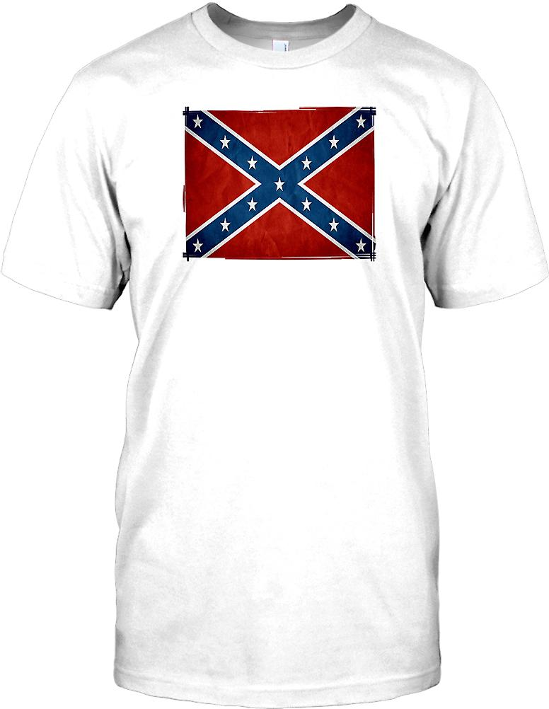Confederate Grunge Effect Flag  Kids T Shirt