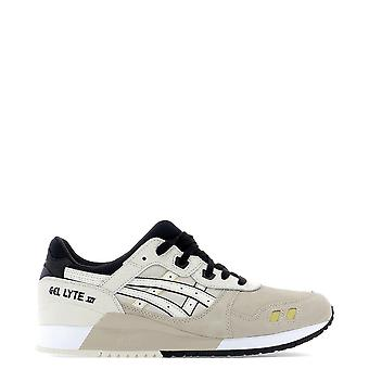 Asics Beige Leather Sneakers