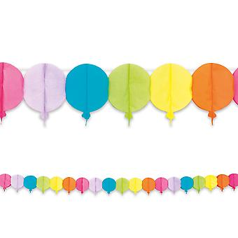 4m lång papper Garland Bunting ballonger Childrens Party Decoratiom
