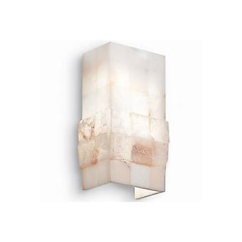 Ideal Lux Stones 1 Light Marble Stone Effect Wall Light