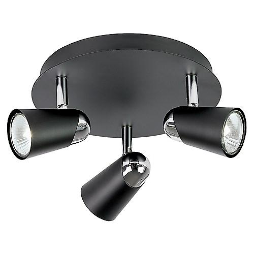 Saxby EL-10053 Civic Triple 50W Modern Ceiling Spotlights