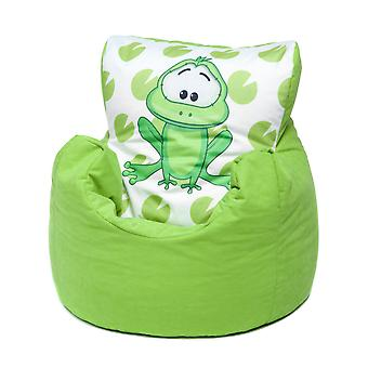 Loft 25® Toddler Animal Print Soft Plush Bean Bag Chair - Frog, Lime