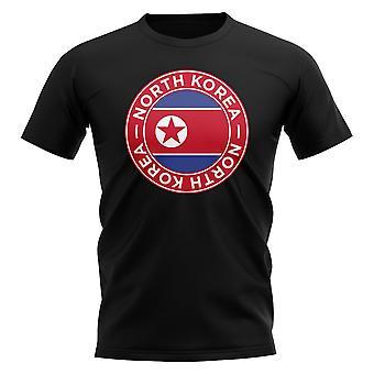 Nord Korea fotboll Badge T-shirt (svart)