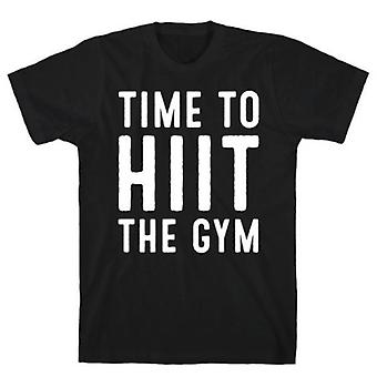 Time to hiit the gym white print t-shirt