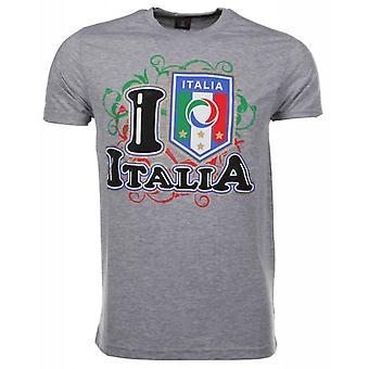 T-Shirt I Love Italia-Grey